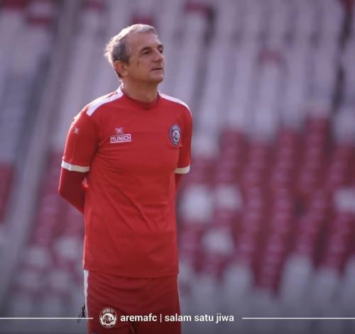 Pelatih Arema FC Milomir Seslija (official Arema FC)