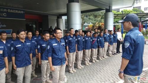 Petugas BP2D Kota Malang saat apel. (Doc MalangTIMES)