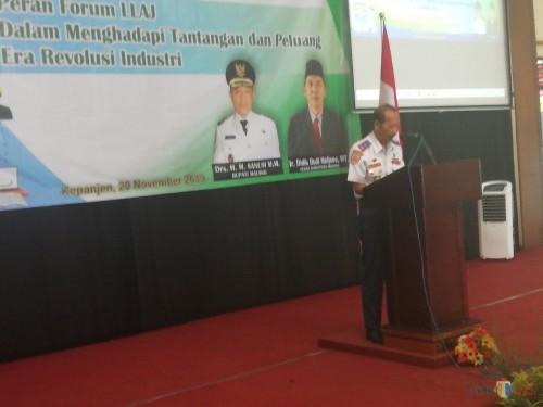Kepala Dishub Kabupaten Malang Hafi Lutfi dalam acara FLLAJ (Nana)