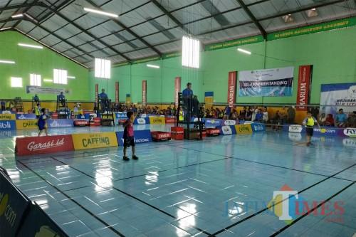 Pertandingan Kejurkot Bulutangkis 2019 di GOR Djagung (Hendra Saputra)