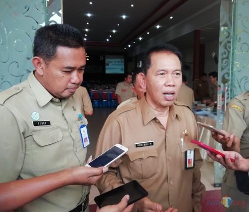 Sekda Kabupaten Malang Didik Budi Muljono berharap kenaikan UMK tak ada gejolak di wilayahnya. (Nana)