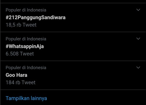 Tangkapan layar trending topik Twitter (Twitter)