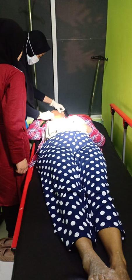 IM korban KDRT saat menjalani perawatan medis di rumah sakit (Foto : Polsek Turen for MalangTIMES)