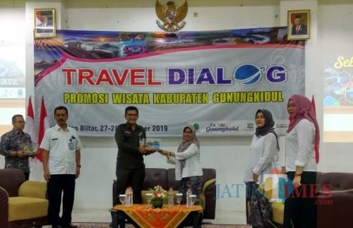 Travel Dialog yang digelar Dinas Pariwisata Kab Gunungkidul di Kab Blitar.(Foto : Malik Naharul/BlitarTIMES)