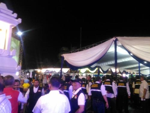 Warga sangat antusias hadiri acara Pisah Kenang Kapolres Lumajang (Foto : Moch. R. Abdul Fatah / Jatim TIMES)