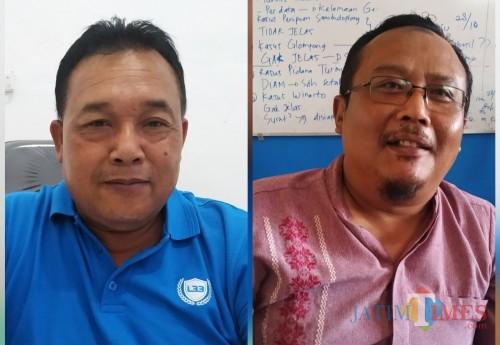 Kacabdin Pendidikan Provinsi Solikin dan Ketua Komite SMK Negeri 3 Boyolangu / Foto : Anang Basso / Tulungagung TIMES