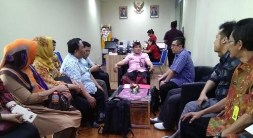 Suasana saat kunjungan tim studi tiru dari Kota Malang saat mengunjungi salah satu Bapenda(ist)