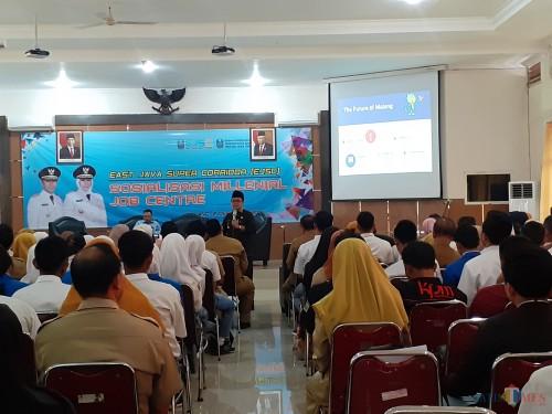 Suasana sosialisasi Millenial Job Centre di Bakorwil Malang, Senin (2/12) (Arifina Cahyanti Firdausi/MalangTIMES)