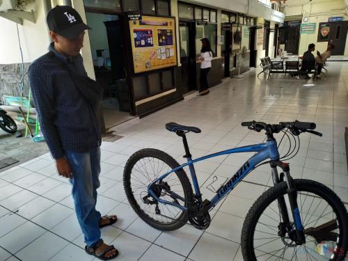 Sepeda MTB Turanza yang berhasil diamankan Satreskrim Polres Tulungagung / Foto : Anang Basso / Tulungagung TIMES