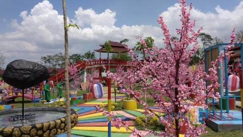 Wisata Korea Fantasy terletak di kaki Gunung Kelud Kabupaten Kediri.(Eko Arif S/ JatimTIMES)