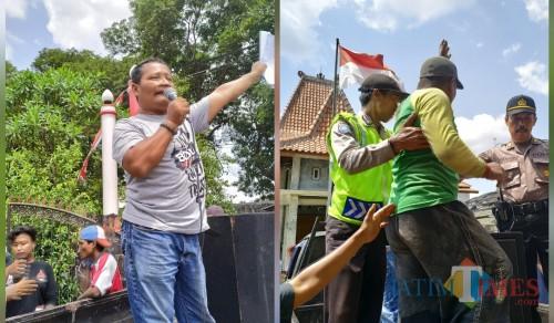 Demo di Kantor Desa Rejoagung Memanas, Dua Kelompok Bersitegang