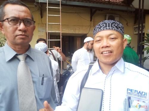 Maskur, Kuasa Hukum DPW FPI yang usai mengadukan perihal ceramah Gus Muwafiq yang dianggap menyinggung (Anggara Sudiongko/MalangTIMES)