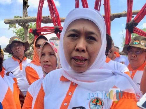 Gubernur Jawa Timur Khofifah Indar Parawansa. (Foto: Irsya Richa/MalangTIMES)