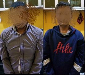Kedua pelaku maling spesialis sepeda yang ditangkap polisi (ist)