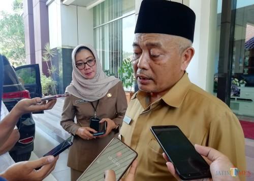 Bupati Malang Sanusi menyampaikan tahun 2020 ada anggaran untuk perbaikan sekolah rusak dengan nilai Rp 8,5 miliar. (Nana)