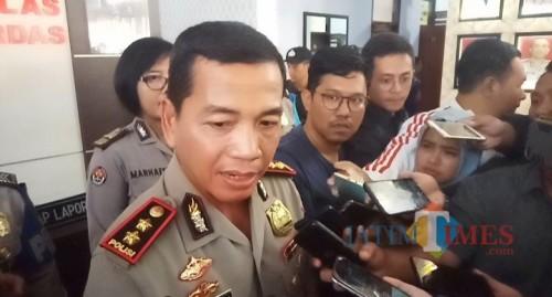 Kapolresta Malang Kota, AKBP Leonardus Sinarmata (Anggara Sudiongko/MalangTIMES)