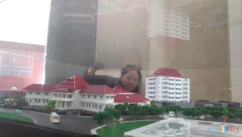 Maket rencana pembangunan gedung bersama di kawasan Balai Kota Malang (Pipit Anggraeni/MalangTIMES).