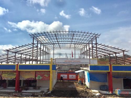 Produksi Spandek Terlambat, Pembangunan Hanggar Pasar Unit Sayur Kota Batu Molor