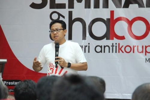 Wali Kota Malang Sutiaji saat hadir menjadi pembicara dalam acara Seminar Peringati Hari Korupsi Sedunia Tahun 2019 di Aula Kanwil DJP Jawa Timur III, Rabu (11/12/2019)(Istimewa).