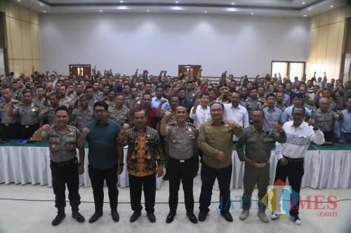Jelang Pilbup 2020, Polresta Kediri Latih Khusus 330 Personel