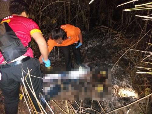 Tim Identifikasi Polres Malang saat melakukan olah TKP di lokasi penemuan mayat yang diduga meninggal karena terpanggang (Foto: Humas Polres Malang for MalangTIMES)