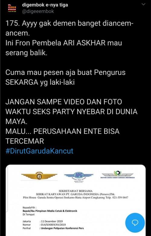 Bola Panas El Diablo Mengarah ke Serikat Karyawan Garuda Indonesia