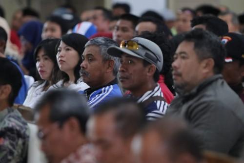 Para pelaku usaha dan PKL di Graha Pancasila, Balai Kota Among Tani, Jumat (13/12/2019).
