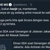 Banjir Jakarta, Banjir Juga Celoteh Satir Warganet