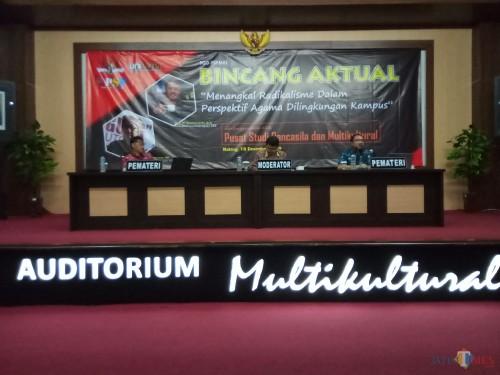 """Forum Group Discussion (FGD) Bincang Aktual dengan tema """"Menangkal Radikalisme dalam Perspektif Agama di Lingkungan Kampus (Anggara Sudiongko/MalangTIMES)"""