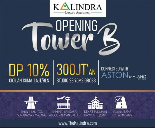 Penjualan Tower B Apartemen The Kalindra Dibuka, Serbu Sebelum Harga Naik!