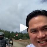 Kunjungi Perbatasan Indonesia-Malaysia Dibonceng Motor Tak Kenakan Helm, Erick Thohir Dapat Perhatian dari Warganet