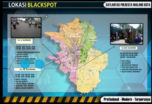 Ilustrasi jalur blackspot di Kota Malang (ist)