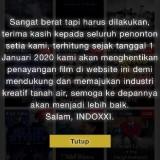 Jadi Trending Topik Twitter, IndoXXI Pamitan 1 Januari Tak Ada Penayangan