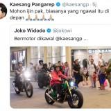 Kaesang Protes Unggahan Jokowi Saat Naik Motor