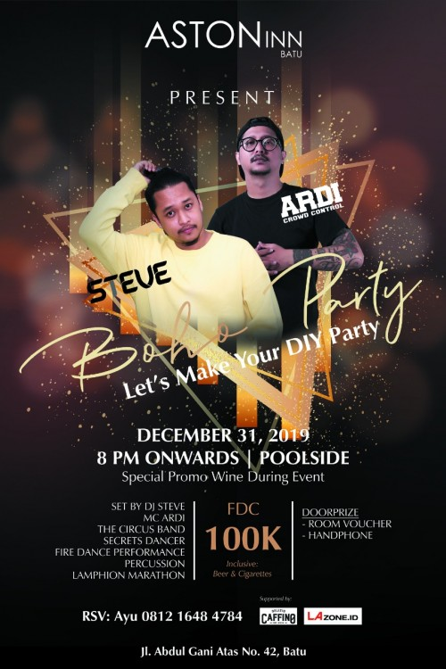 Aston Inn Batu Gelar New Year Party di Akhir Tahun 2019