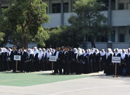 Mahasiswa peserta Kuliah Kerja Mahasiswa (KKM) UIN Mengabdi 2020. (Foto istimewa)