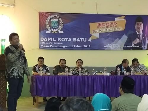 Sujono Djonet Gelar Reses Perdana di Pengujung 2019