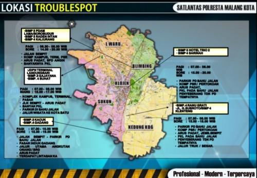 Lokasi-lokasi troublespot di Kota Malang (ist)