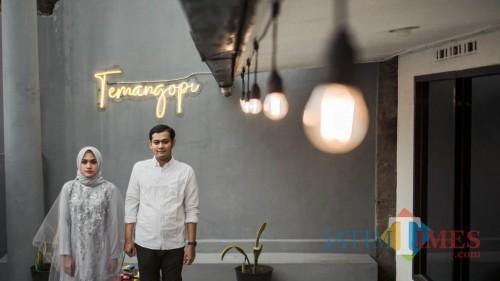 Kedai kopi TemaNgopi juga tempat untuk preeweding. (eko Arif s /JatimTimes)