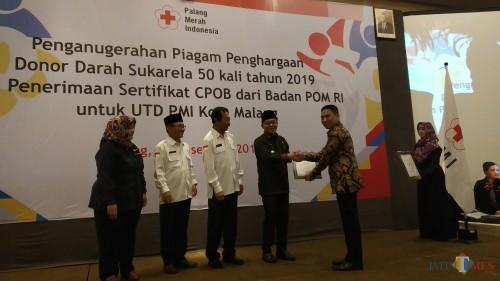 PMI Kota Malang Raih Sertifikat Pengelolaan Darah Berkualitas