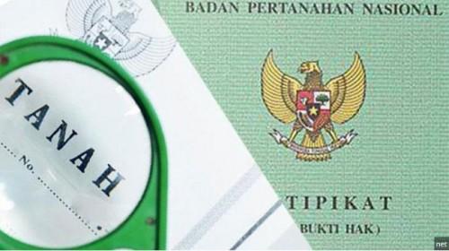 Ilustrasi sertifikat tanah yang digadaikan (ist)