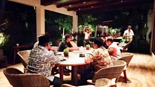 Silaturahmi 7 ketua parpol di Restoran El Royale Banyuwangi
