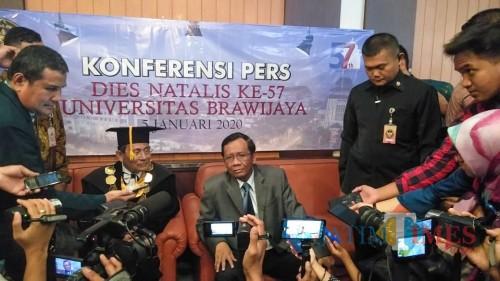Menteri Koordinator Bidang Politik Hukum dan Keamanan (Menko Polhukam) Mahfud MD. (Foto: Imarotul Izzah/MalangTIMES)