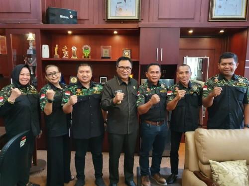 Rombongan Pengurus DPC HIPAKAT Kota Malang bersama Wakil Wali Kota Malang Ir. Sofyan Edi Jarwoko