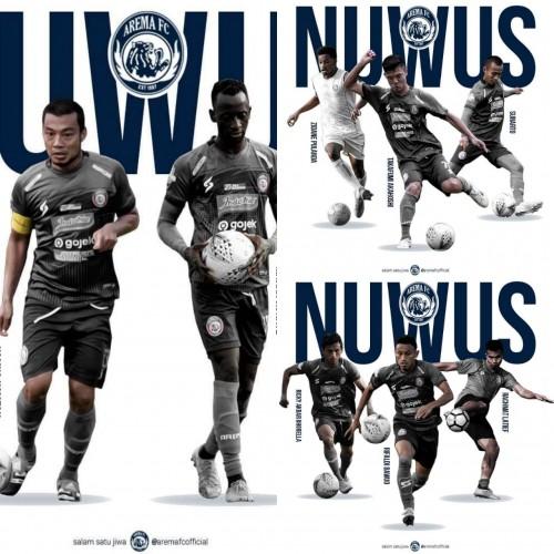 Kumpulan pemain Arema FC yang hengkang (istimewa)