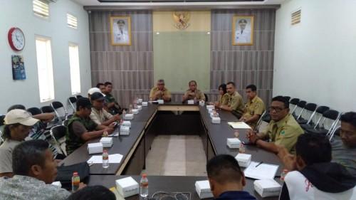 Pertemuan Dinas Koperasi, Perindustrian dan Perdagangan Kota Malang dan pedagang Pasar Comboran, Selasa (7/1/2020) (Istimewa).