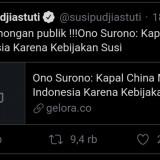 Terkait Gerilya Kapal China di Natuna, Susi Pudjiastuti Sebut Anggota DPR RI Lakukan Pembohongan Publik