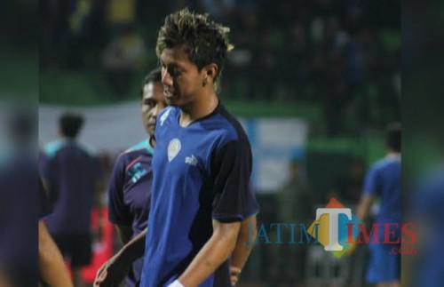 Syaiful Indra Cahya saat masih membela Arema FC di Liga 1 2016 (foto dok MalangTIMES)