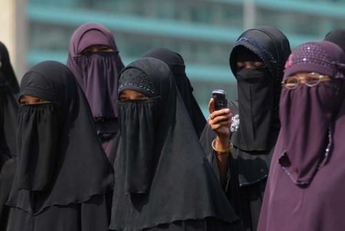 Ilustrasi perempuan bercadar. (Foto istimewa)