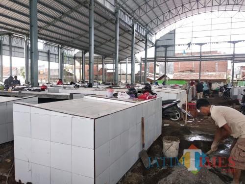 Progress terkini pembangunan Pasar Sukun Kota Malang (Arifina Cahyanti Firdausi/MalangTIMES)